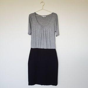 Boden Fabric Mix Knee Length Dress Size 10 LONG